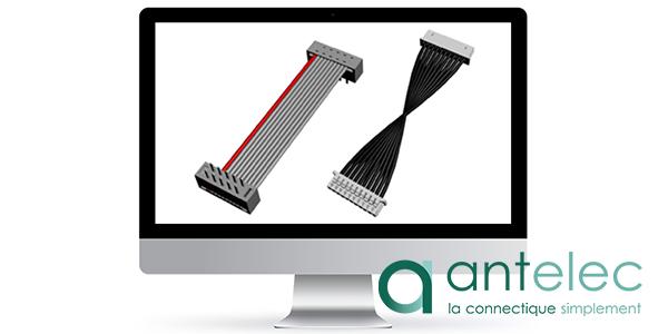 Capture d'écran du configurateur de cordons Antelec