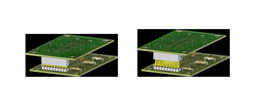 Visuel 3d de d'application carte à carte avec connecteurs « custom »