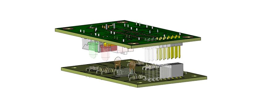 Visuel 3D de connecteurs « custom » en carte à carte
